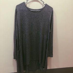 Gray long sleeved nightwear from Chico's